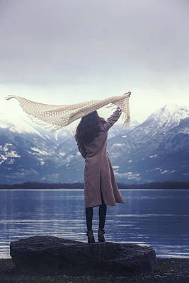 Shawl Photograph - Playing With Wind by Joana Kruse