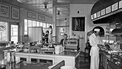 Playlands Photograph - Playland Restaurant Interior by Underwood Archives