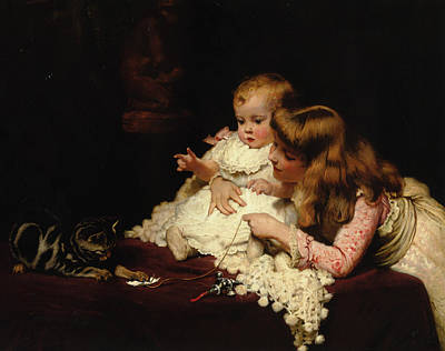 Digital Art - Playmates by Charles Burton Barber