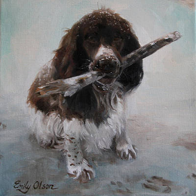 Fetch Painting - Playtime by Emily Olson