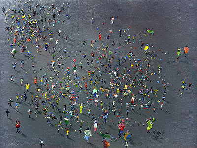 Crowds Painting - Playtime by Neil McBride