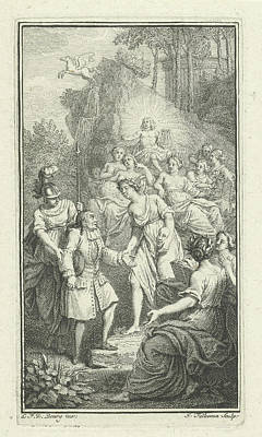 Pegasus Drawing - Playwright Paul Scarron Visits Apollo And The Muses by Jacob Folkema