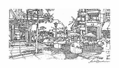 Art Print featuring the drawing Plaza by Andrew Drozdowicz