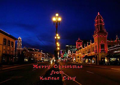 Photograph - Plaza Christmas Lights by Deb Buchanan