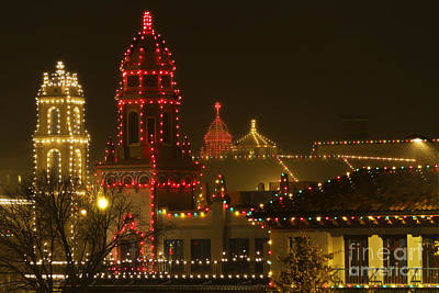 Photograph - Plaza Christmas Lights by Dennis Hedberg