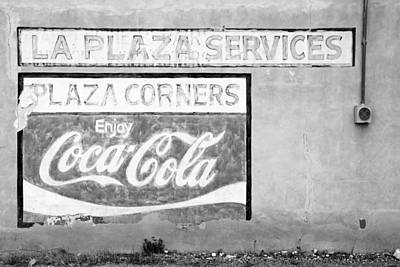 Photograph - Plaza Corners Ghost Sign by Daniel Woodrum