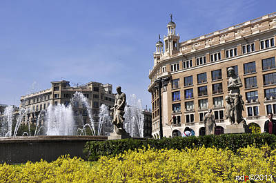 Photograph - Plaza De Catalunya by Andrew Dinh
