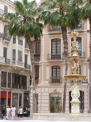 Photograph - Plaza De La Constitucion - Malaga by Phil Banks