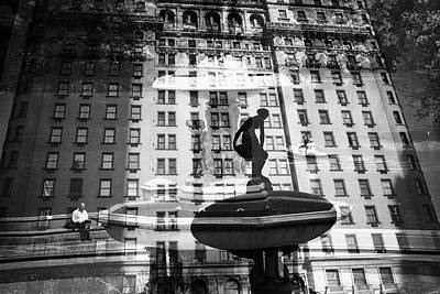 Photograph - Plaza Hotel Central Park Lake by Dave Beckerman