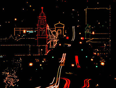 Plaza Lights 1978 Art Print
