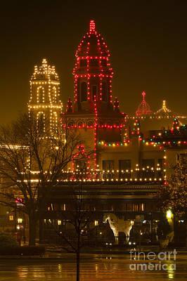 The Bunsen Burner - Plaza Lights on a Rainy Night by Dennis Hedberg