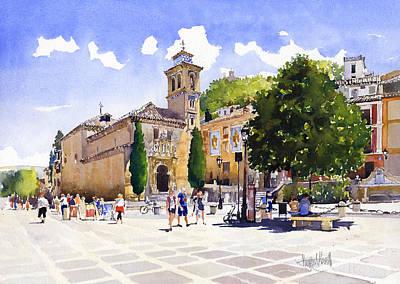 Granada Painting - Plaza Nueva by Margaret Merry