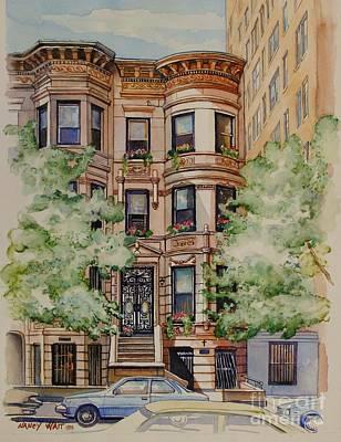 Painting - Plaza Street West 1994 by Nancy Wait