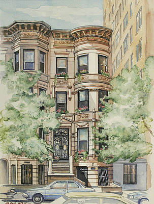 Painting - Plaza Street West by Nancy Wait