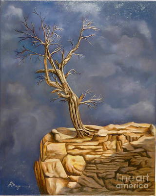 Turbulent Skies Painting - Plea by Rosario Meza