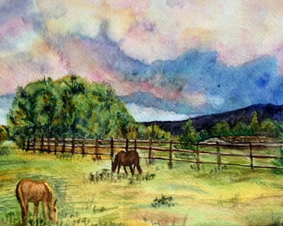 Painting - Pleasant Pastures by Carol Warner