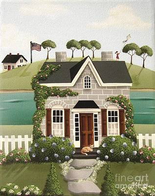 Stone Cottage Painting - Pleasant Point by Catherine Holman