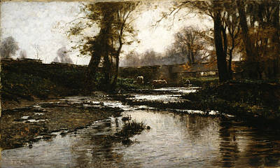 Steele Painting - Pleasant Run by Theodore Clement Steele