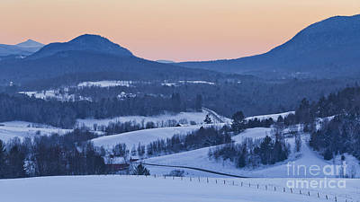 Photograph - Pleasant Valley Winter Twilight by Alan L Graham