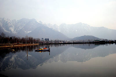 Photograph - Pleasant View Of Dal Lake- Kashmir- India- Viator's Agonism by Vijinder Singh