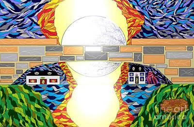 Digital Art - Pleasantville Bridge by Lewanda Laboy