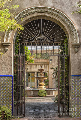 Southwest Gate Photograph - Please Come In by Sandra Bronstein