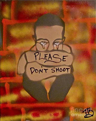Free Speech Painting - Please Don't Shoot by Tony B Conscious