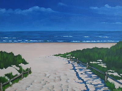 Sand Dunes Painting - Please Enter by Elisabeth Olver