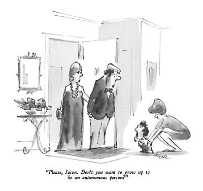 Please, Jason. Don't You Want To Grow Up To Be An Art Print by Lee Lorenz