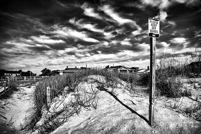 Please Keep Off Dunes Print by John Rizzuto