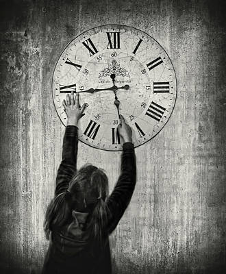 Clock Wall Art - Photograph - Please Move Faster, I Want To Grow Up !!! by Artistname