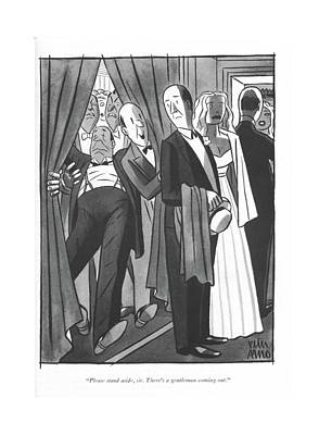 Theater Drawing - Please Stand Aside by Peter Arno