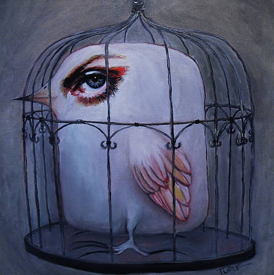 Cage Painting - Please Stay by Joe Turk