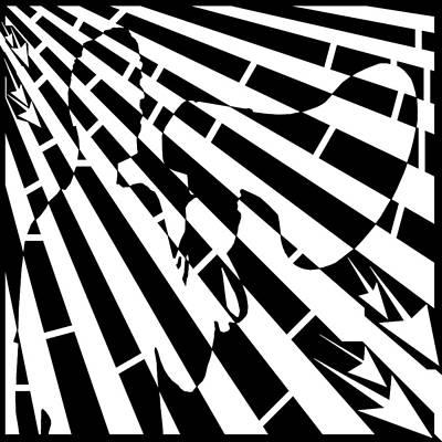 Please Step Away Maze  Art Print by Yonatan Frimer Maze Artist