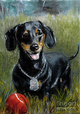 Painting - Please Throw The Ball by Stella Violano