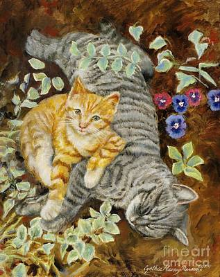 Painting - Please Wake Up It's Time To Play by Cynthia Parsons