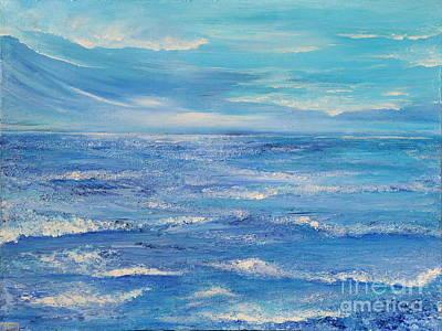 Waterscape Painting - Pleasure 2 by Teresa Wegrzyn