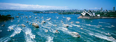 Pleasure Photograph - Pleasure Boats, Sydney Harbor, Australia by Panoramic Images