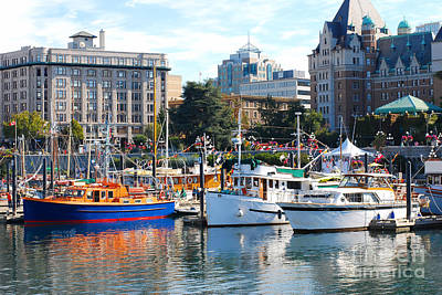 Photograph - Pleasure Craft In Victoria by Connie Fox