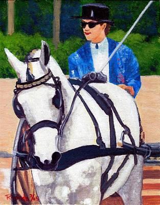 Pleasure Driving Quarter Horse Art Print by Olde Time  Mercantile