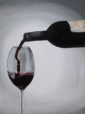 Pleasure In A Glass Art Print by Melissa Torres