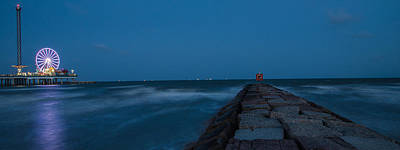 Photograph - Pleasure Pier And Break Wall Galveston Tx  by John McGraw