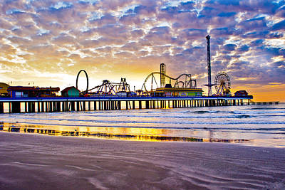 Photograph - Pleasure Pier At Dawn  by John Collins