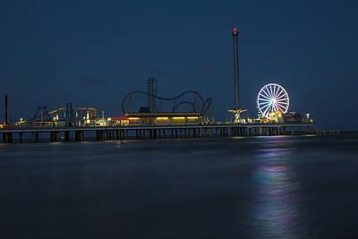Photograph - Pleasure Pier At Night  by John McGraw