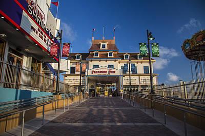 Photograph - Pleasure Pier Entrance by John McGraw