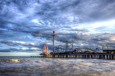 Roller Coaster Photograph - Pleasure Pier Galveston by Shawn Everhart