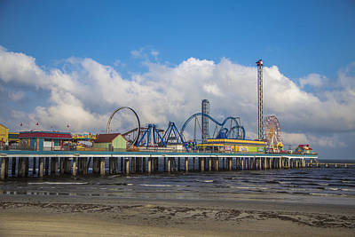 Photograph - Pleasure Pier On A Cloudy Day by John McGraw