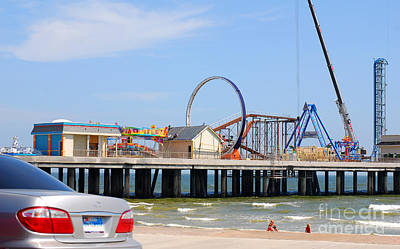 Photograph - Pleasure Pier Under Construction by Connie Fox