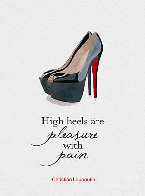 High Heel Mixed Media - Pleasure With Pain by Rebecca Jenkins