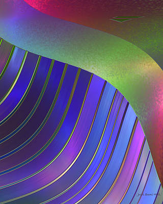 Digital Art - Pleats by Judi Suni Hall